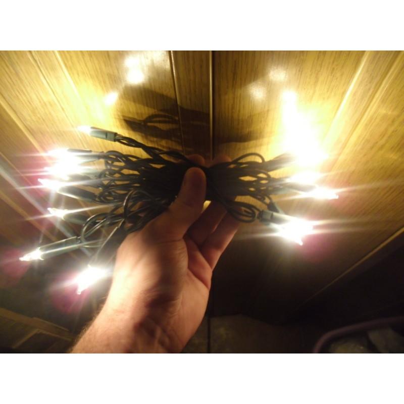 serie pisellini 10 luci presepe bianche  fisse  da san gregorio armeno napoli
