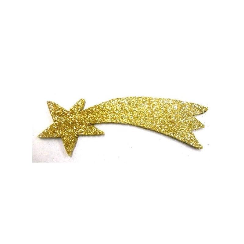 Stella Cometa con Glitter Color Oro Cm 17, Pastori e Presepi Gambardella