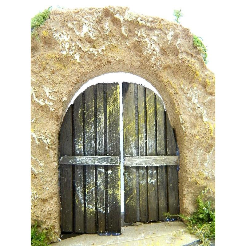 Arco in sughero con porta in legno cm 6x15x13 portone - Porte con arco ...