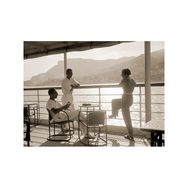 Quadro giovani sul ponte delius foto vintage stampa su mdf for Foto di ponti su case