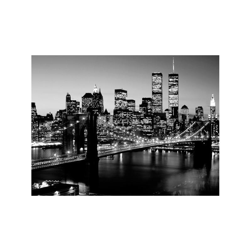 Quadro ponte di brooklyn 10 new york stampa su mdf o tela for Foto di ponti su case