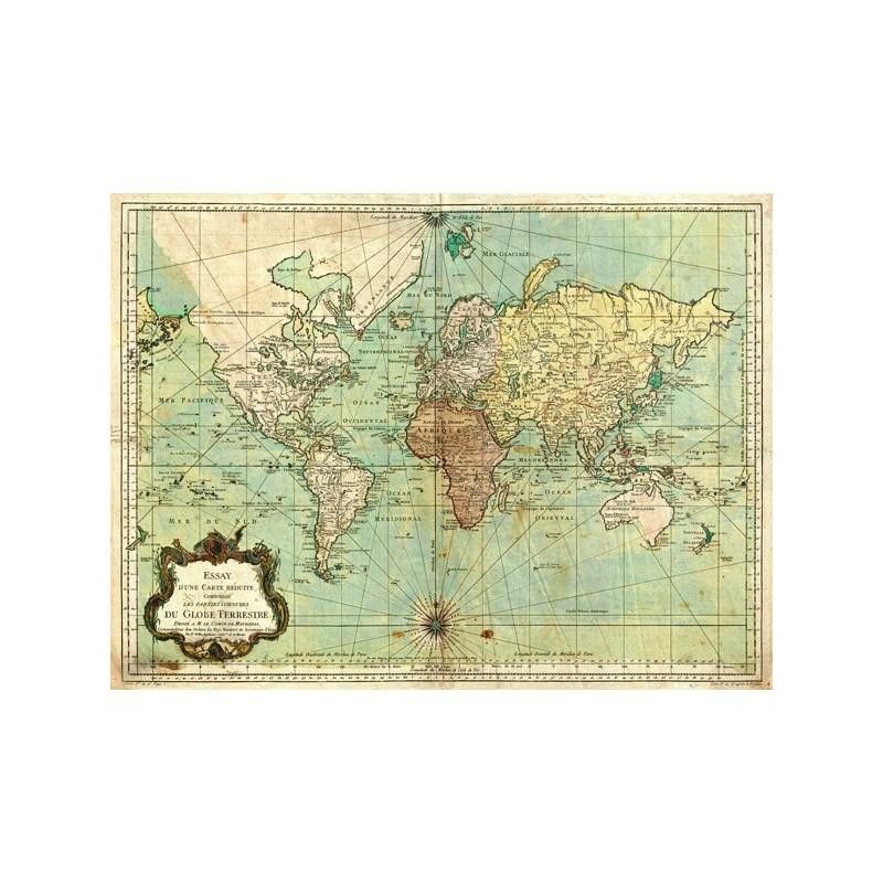 Cartina Del Mondo Ingrandita.Quadro Mappa Emisfero Mondo 1778 Cartina Geografica Stampa Su Mdf Tela Swarovski Gambardella Pastori E Quadri
