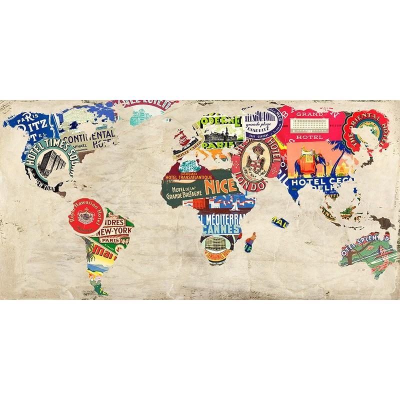 Cartina Mondo Quadro.Quadro Cartina Terra Mondo Pop Art 2 Mappa Stampa Su Mdf O Tela Swarovski Arredo Ebay