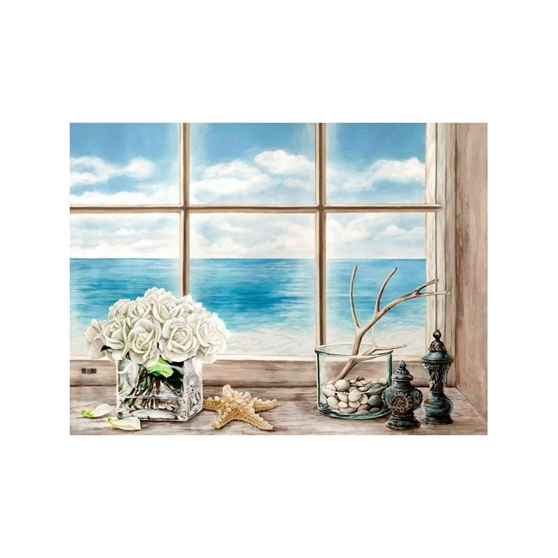 quadro finestra sul mare n 1 stampa su mdf o tela