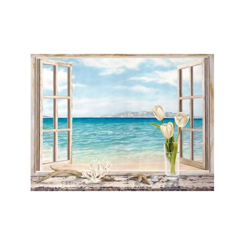 quadro finestra sul mare n 2 stampa su mdf o tela