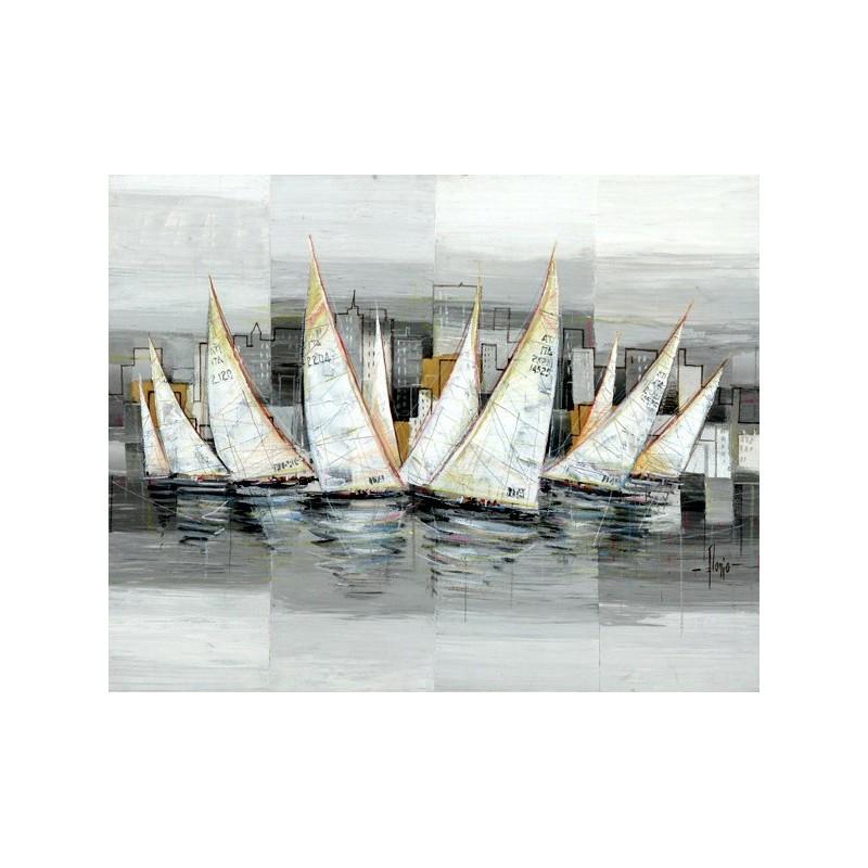 Quadro mare barche a vela n 2 stampa su mdf tela swarovski for Arredo barche