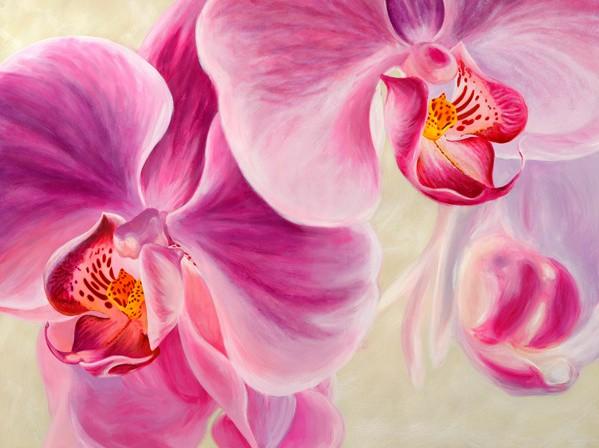 Quadro fiori orchidee viola stampa su mdf o tela swarovski arredo